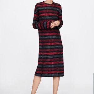 Zara Woman Stretch Dress Size M